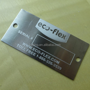 Custom made polished 304 stainless steel etched brand logo