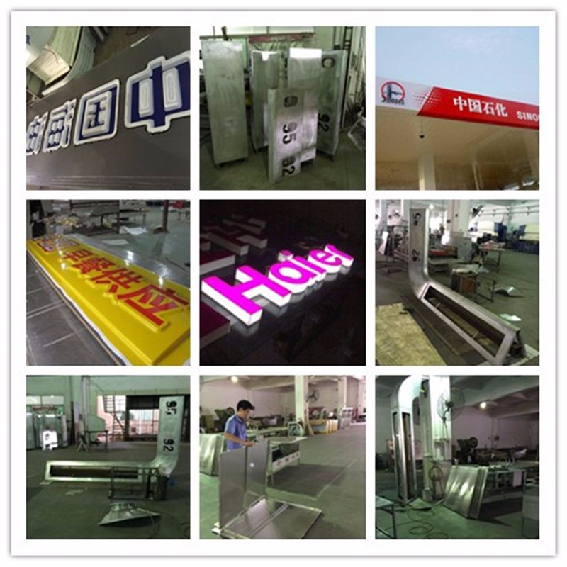 Acrylic advertising vacuum formed plastic light box letter signboard