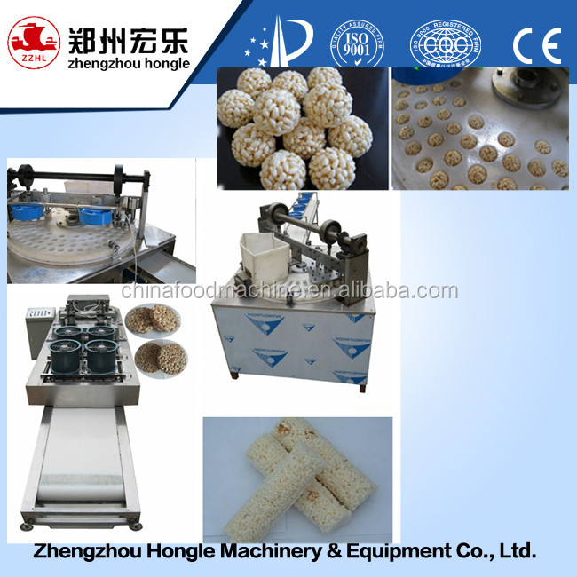 Multifunctional Low Price Puffed Rice Ball Candy Making Machine /cereal Candy Bar Forming Machine008615639775310