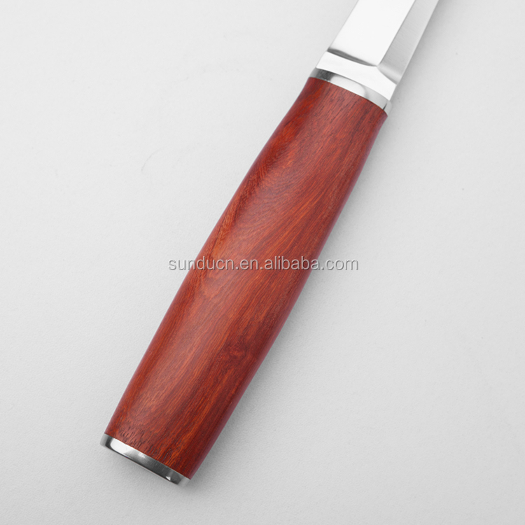 China Best Knife Hunting Camping Wooden Fixed Blade Hunting Knife