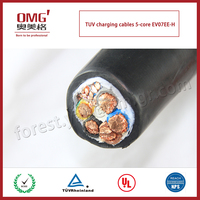 excellent quality TUV standard EV AC power charging cables for electric vehicle--5 cores