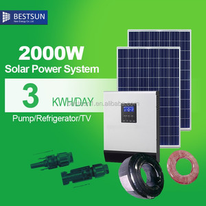 BestSun 2kw solar power system for home use household BPS-2000M solar power generation system
