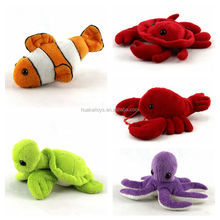 "6.5"" soft toy sea animal costumes plush fish toy turtle toy"