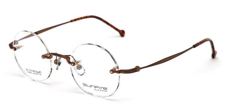Rimless Eyeglass Frame Parts : Stylish Hinges Titanium Rimless Glasses Frames - Buy ...