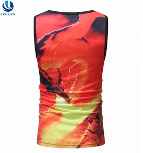 Fashion Custom Sublimation Digital Printing Vest Mens Stringer Singlet Bodybuilding Fitness Gym Tank Top