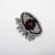 Fashion custom rhinestone bead eye embroidery patches for clothing