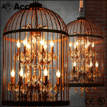 Home Decorative Bird Cage Lamp Vintage Style Pendant Lights Uk