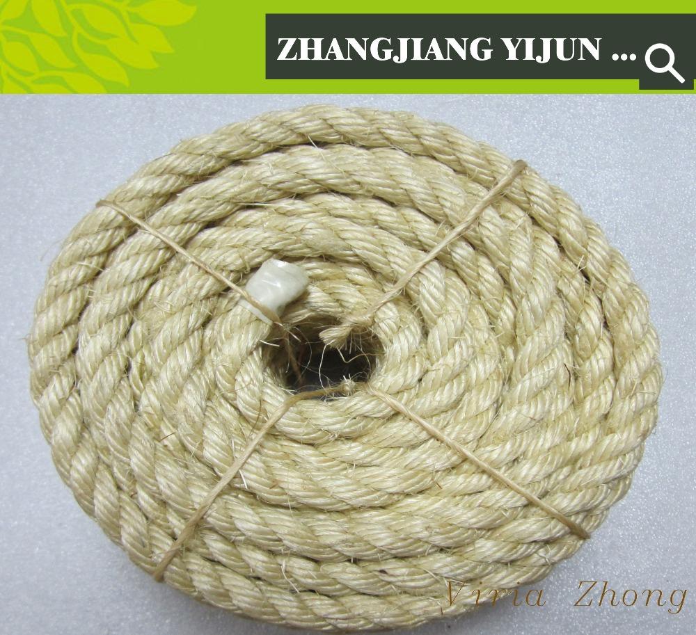 cor natural volume da fibra de sisal corda torcida grande atacado em zhanjiang china