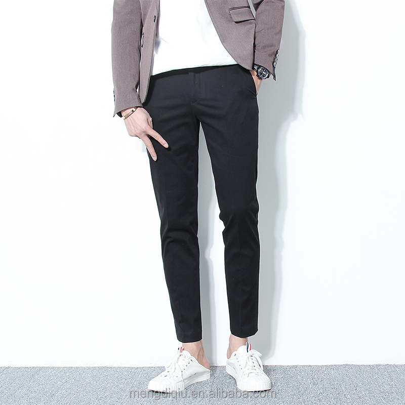 good quality strech washed slim chino pants men
