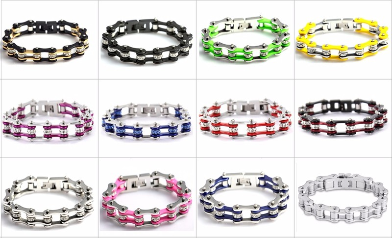 5396ab344ace9 Rose Gold Plating Jewelry Crystal Bicycle Bracelet Mini Motorcycle Chain  For Lady Hand Bracelet, View biker bracelet, SDA Product Details from ...