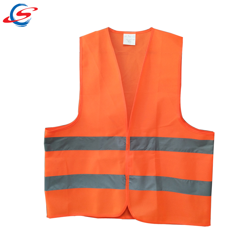 Stock goods high visibility security guard cheap safety <strong>orange</strong> reflective <strong>vest</strong>