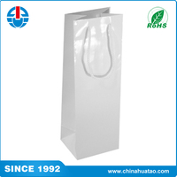Fugang High Quality Customize Promotion White Packaing Paper Wine Gift Bags
