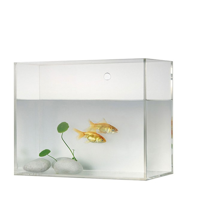 Gepersonaliseerde acryl mini aquarium 5 sides clear transparante plexi water containers