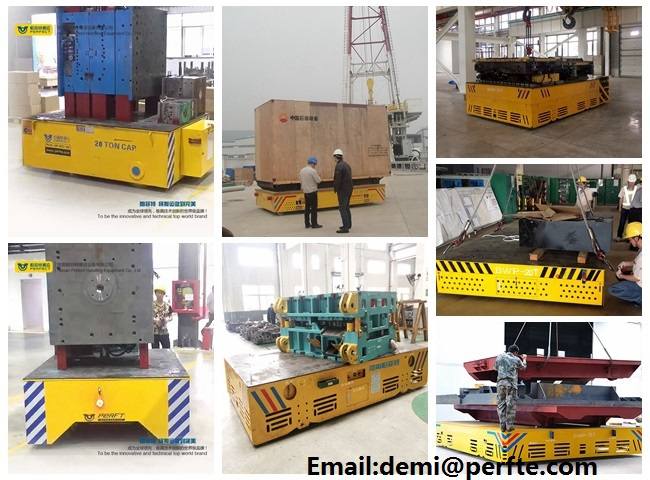 25 ton steel structure mold move equipment flatbed transfer trolley