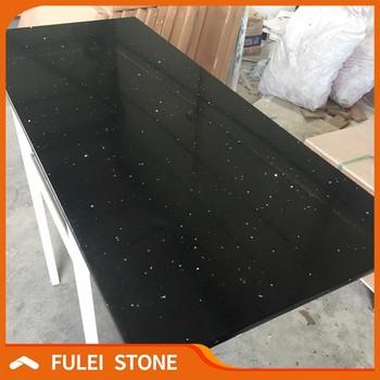Black Crystal Quartz Worktop Quartz Countertops Price Cost India