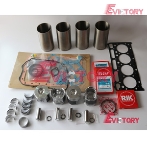 For Kubota V2203 engine rebuild kit Piston + ring cylinder liner gasket  bearing