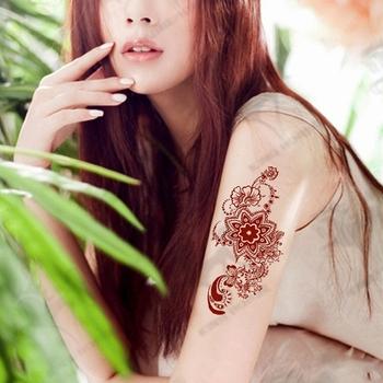 Kopi Henna Tubuh Art Indian Tattoo Sticker Buy Henna Tubuh Tato