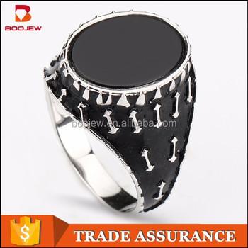 Saudi Arabia White Gold Jewelry Wholesale Black Natural Gemstone