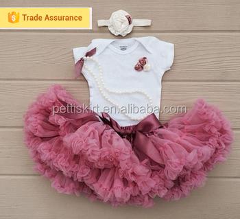 70d4b3c5eb730 Yenidoğan bebek kızlar için kabarık tutu etek tutu elbise tutu etek toptan  tozlu pembe