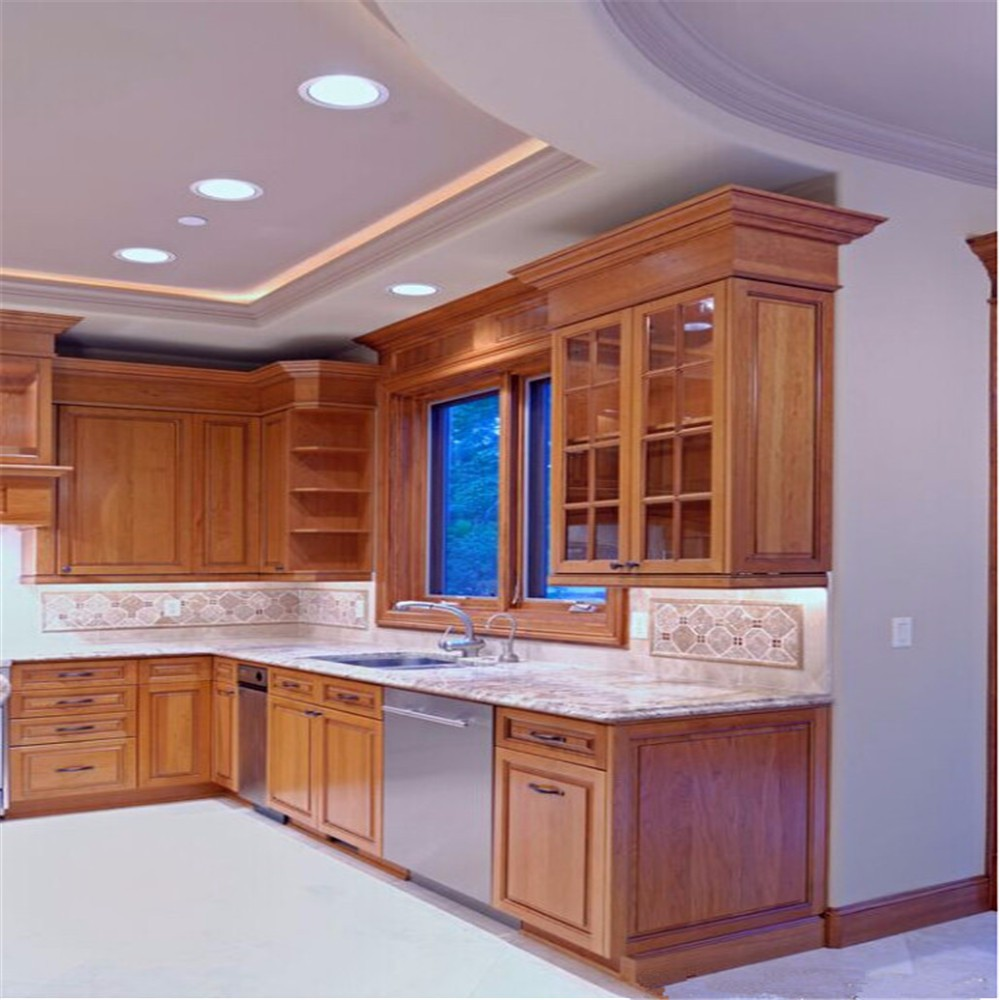 Ready To Assemble Solid Wood Door Kitchen Cabinets Turkey