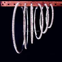 Fashion crystal Hoop Earring wholesale NSYE-0011