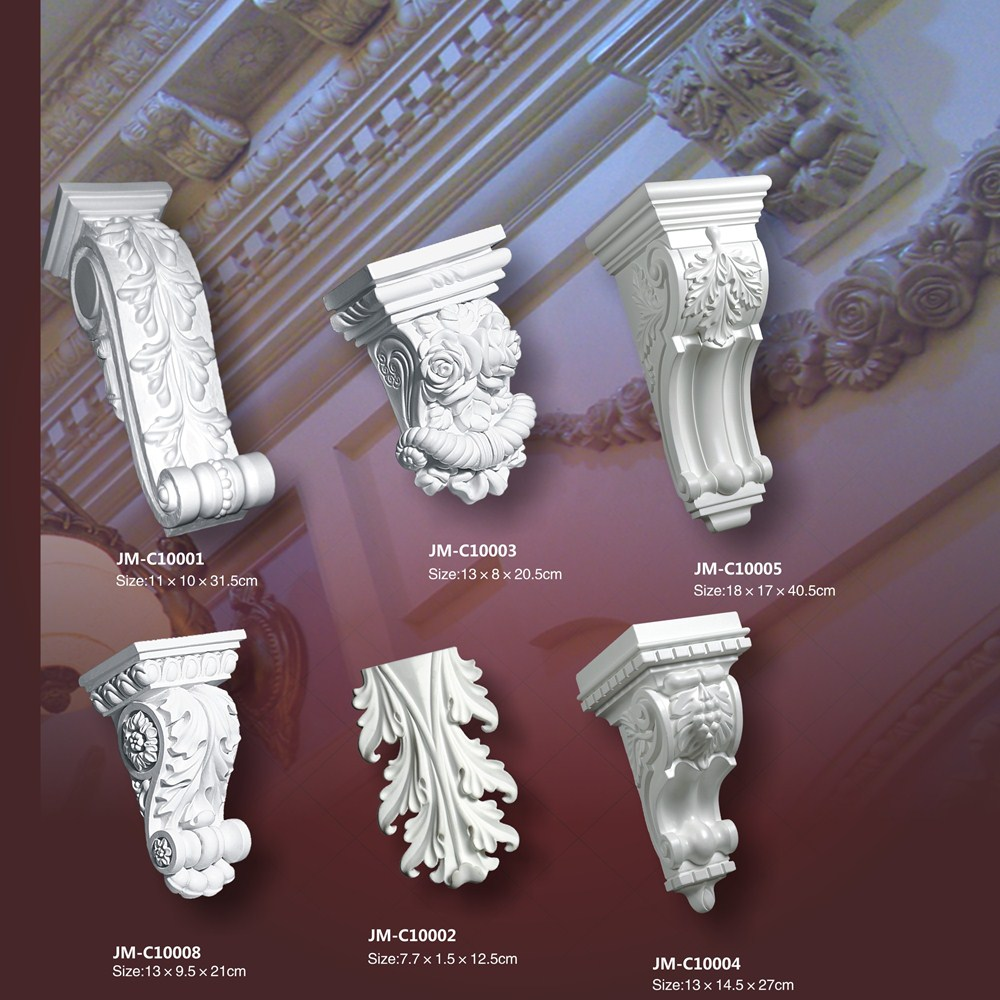 Good price beautiful luxury Polyurethane European style carved decorative building outdoor Corbel