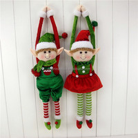 Adorable New 2018 Christmas Boy and Girl Plush Hanging Elf Doll Soft Toy Fashion Custom Christmas Decoration