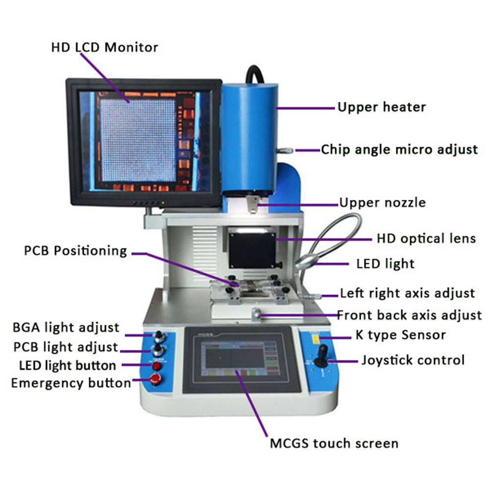 Hard Disk Tools Automatic Optical Alignment Bga Rework Station Wds-700 For Iphone Motherboard