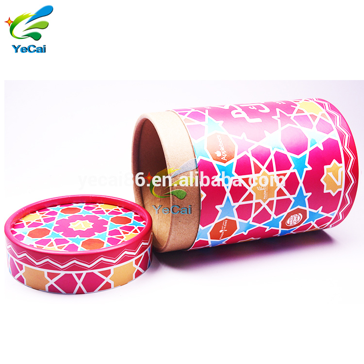 Trade assurance custom round paper box for candle , packaging cardboard candle cylinder container