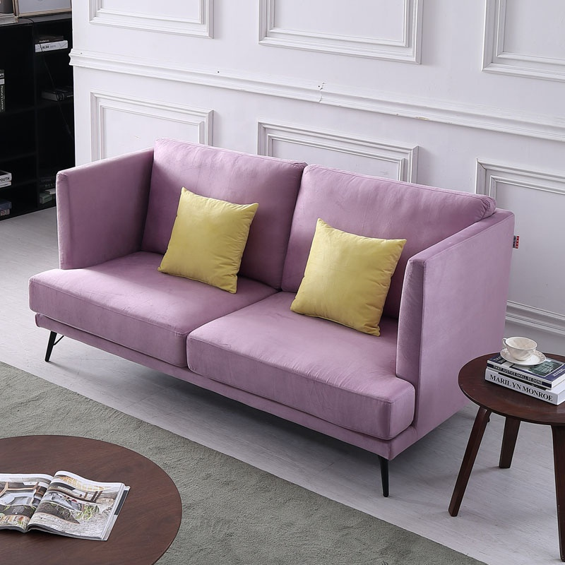 Admirable Living Room Modern High Back Pink Furniture Two Seat Fabric Sofa Set Buy Loveseat Sofa Set Simple Sofa Set Fabric Living Room Sofa Product On Onthecornerstone Fun Painted Chair Ideas Images Onthecornerstoneorg
