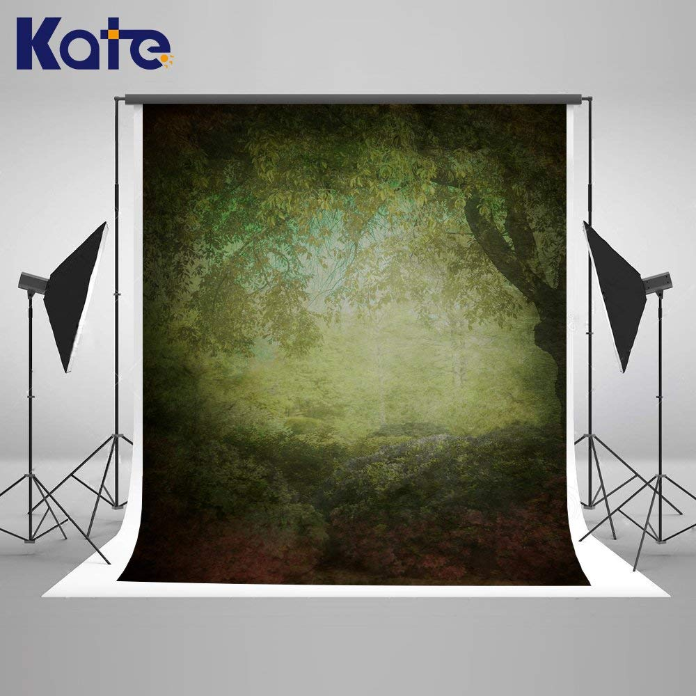 Kate5x7ft Black Green Abstract Backdrops for Photographers Old Master Portrait Photo Backdrop Abstract Photography backdrops Oil Painting Photo Background Abstract Background for Photography Props