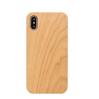 Cellphone Accessories Blank Cherry Wood Phone Case for iphone X
