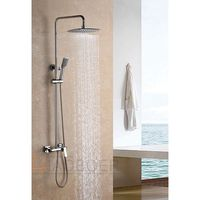 Latest product of China chrome shower head bathroom solar shower faucets