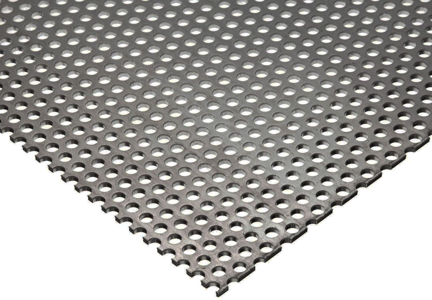 "Online Metal Supply 304 Stainless Steel Perforated Sheet .035"" (20 ga.) x 24"" x 36"" - 1/8"" Holes"