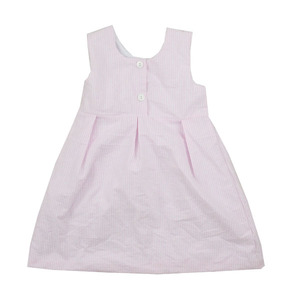 SGS certificate mint seersucker clothes for kids thick strap plain child party dress
