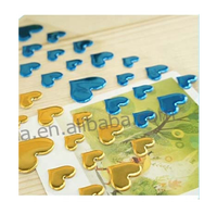 Colorful heart epoxy resin craft stickers
