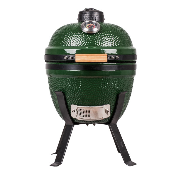 Small 14 Inch Pit Patio Meat Cooker Kamado Charcoal Smoker and Grill