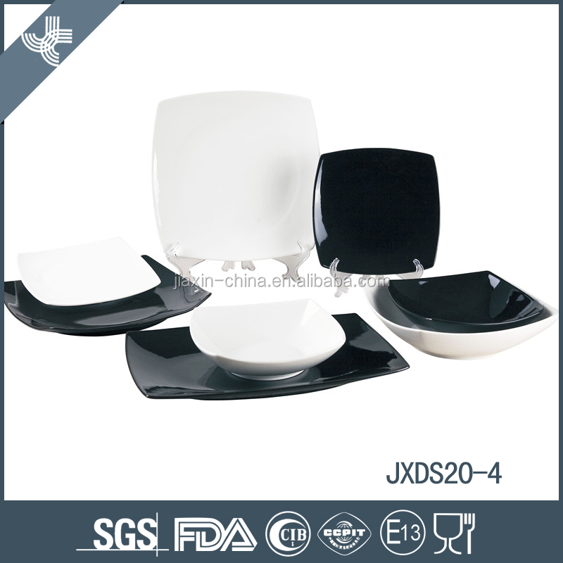 20pcs porcelain square dinner set plate set red and black mix color set  sc 1 st  Alibaba & 20pcs Porcelain Square Dinner SetPlate SetRed And Black Mix Color ...