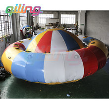 2016 newest super hot sale crazy disco boat inflatable motorized water toy
