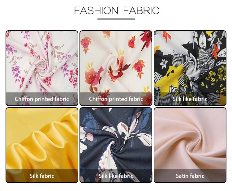 Floreale chiffon stampato moss crepe voile tessuto dei vestiti