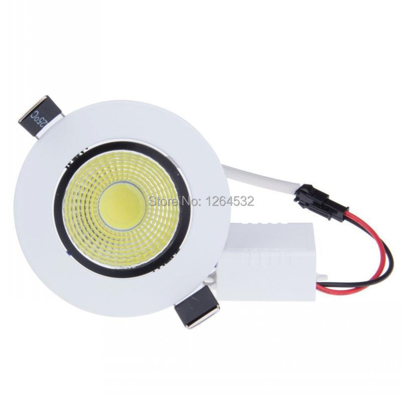 Embedded LED COB Round Downlight Warm White 5W AC100-245V dimmable downlights with Indoor lighting,led lamps,ceiling spot lights
