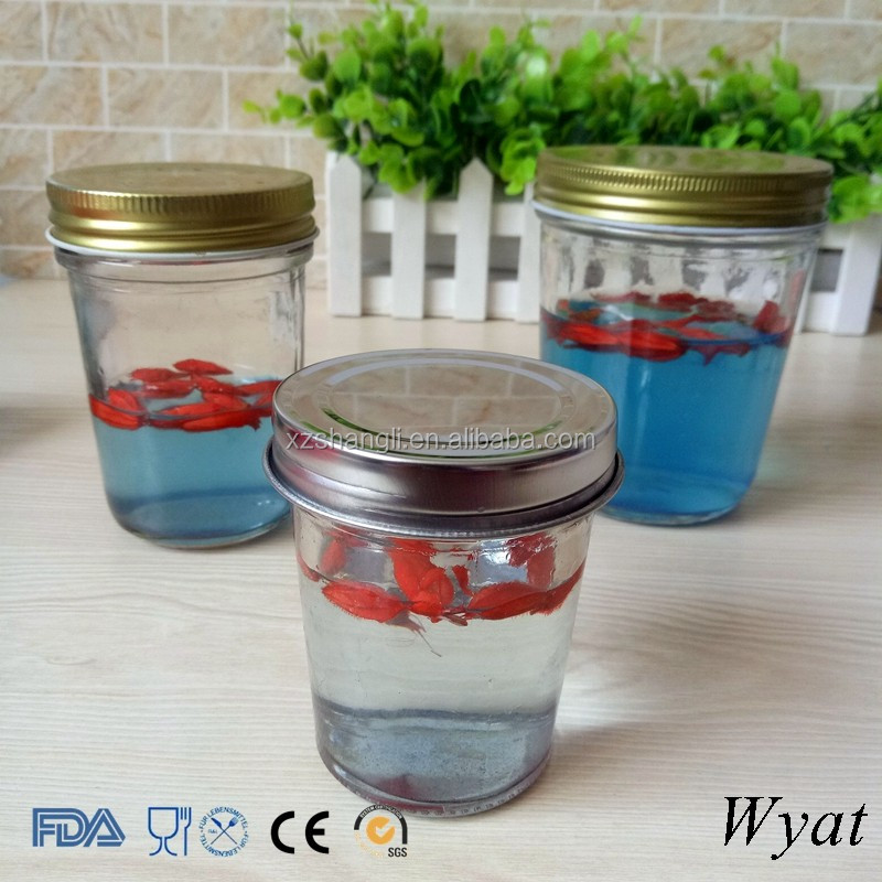 Cheap 120ml 240ml Wide Mouth Glass Food Canned Container Jars for Food Storage