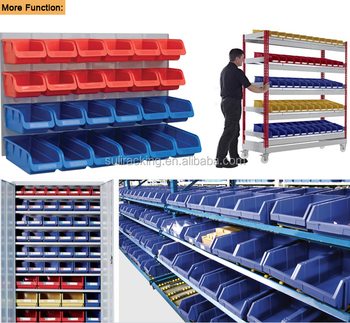 Full Range Size Warehouse Plastic Storage Bins Of PP Material/Series B Blue  Color