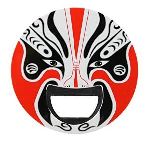 2 in 1 Original Chinese Peking Opera Face Mask Beer Bottle Opener Magnetic Fridge Sticker New[Random Color]