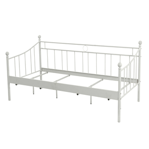 Free Sample Bali Wrought Iron Day bed/White Metal Daybed