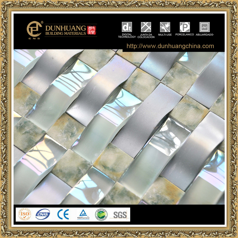 iridescent glass mix marble mother of pearl mosaic tile
