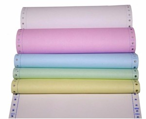"381x11"" 52gsm 3ply white/yellow /pink carbonless paper"