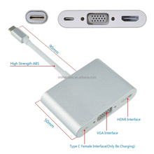 USB-C Multifunctionele Adapter voor Laptops-4 K HDMI of USB Type-C <span class=keywords><strong>Laptop</strong></span> Travel Adapter VGA <span class=keywords><strong>Docking</strong></span> <span class=keywords><strong>Station</strong></span>