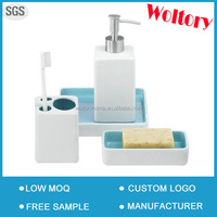 New year promotional gift Promotion elegant Plain color ceramic bath accessories