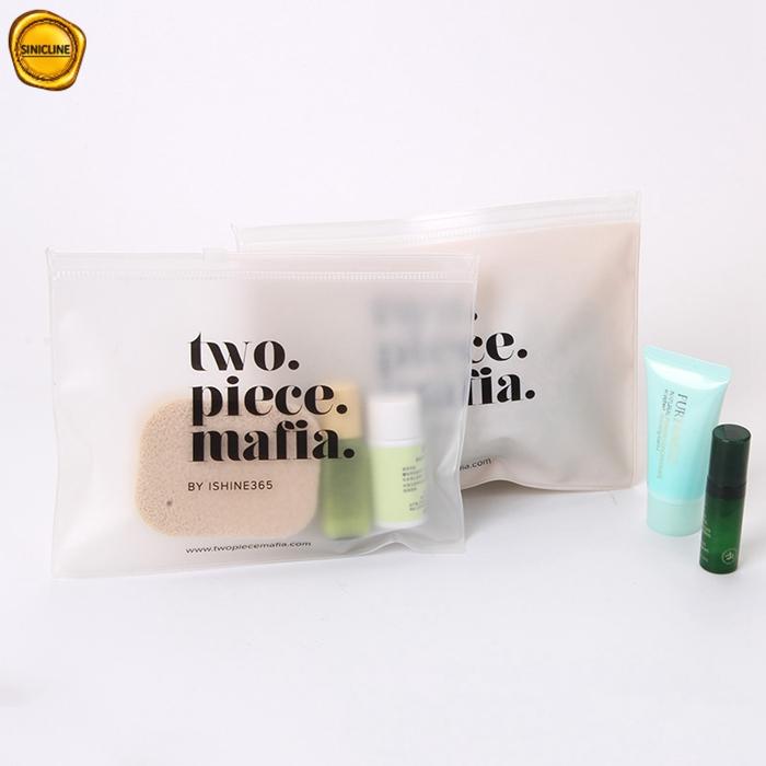 Sinicline Kustom Frosted EVA Ziplock Tas Kosmetik Plastik Tas